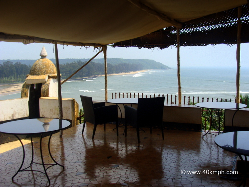 View of Arabian Sea from Fort Tiracol Heritage Hotel, Tiracol, Goa
