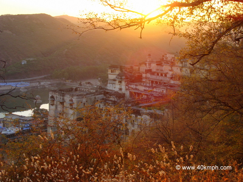 View of The Palace and The Sunset from Taragarh Fort, Bundi, Rajasthan