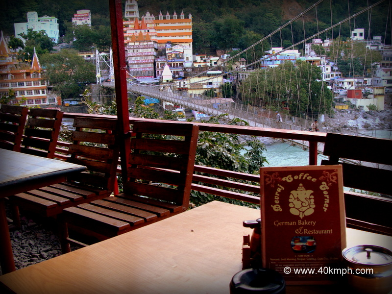 Laxman Jhula View from Restaurant