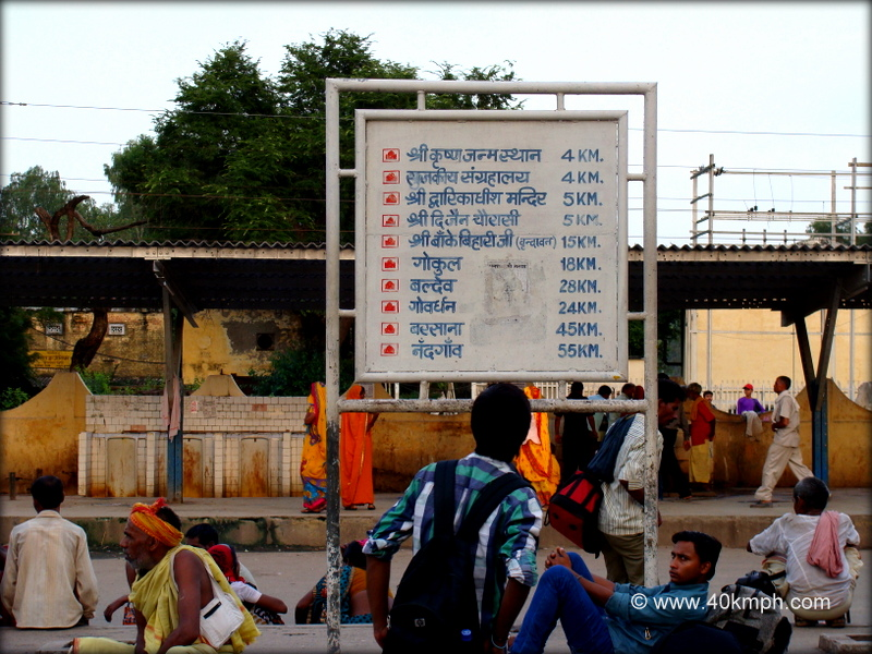 Distance from Mathura Railway Station to Tourist Places