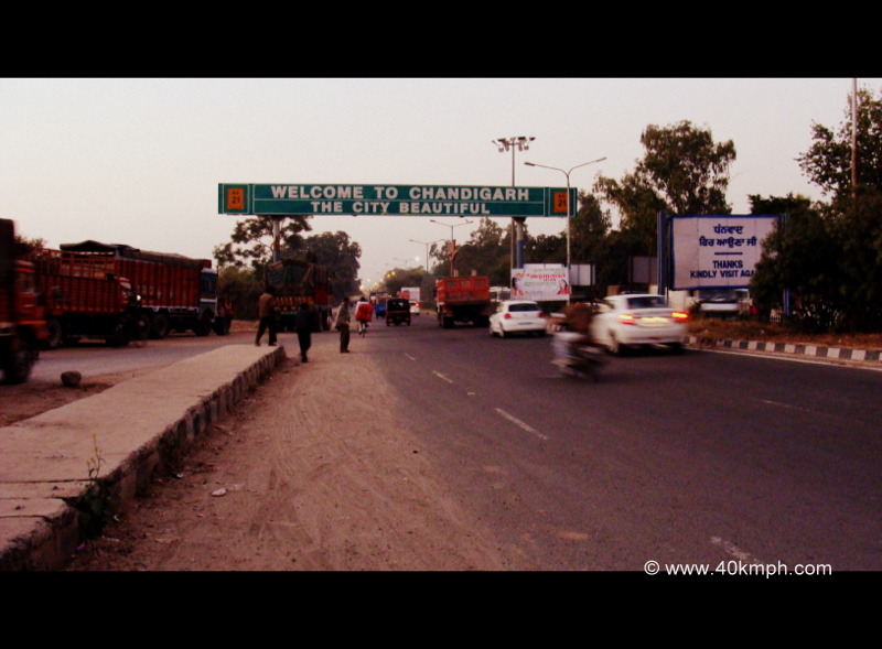 Welcome to Chandigarh City Sign