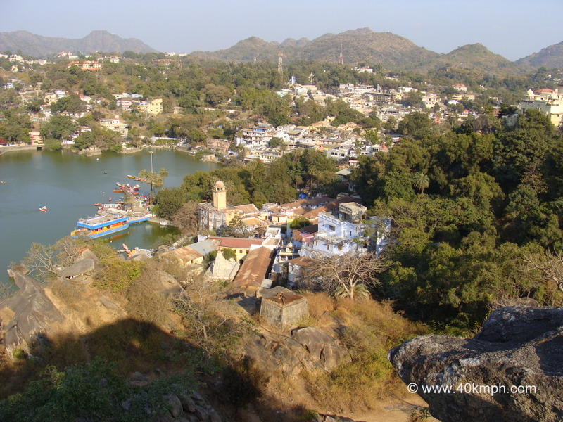 View of Raghunath Temple from Toad Rock, Mount Abu, Rajasthan