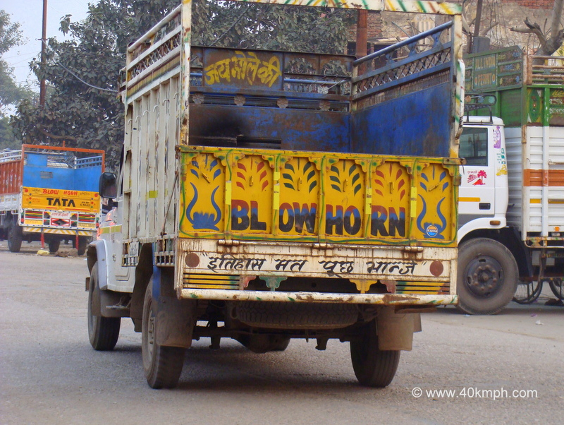 Quote Behind Lorry About Leaving Past History