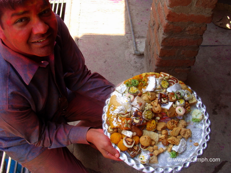 Sweets for Friends during Holi Festival