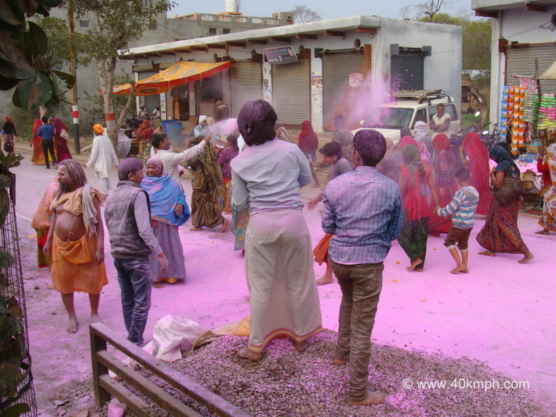 Celebrating Holi with Dry Colors