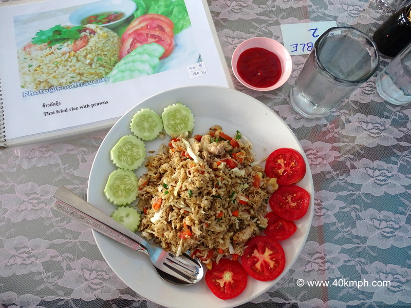 Thai Fried Rice with Chicken for Brunch