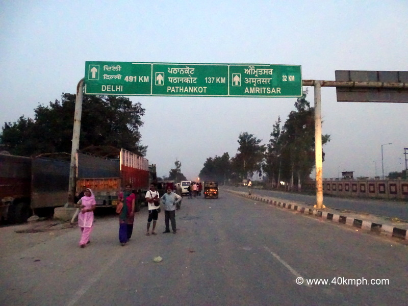 Distance from Wagah Border (Punjab) to Various Cities