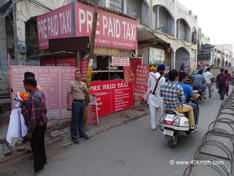 Prepaid Taxi Booth nearby Golden Temple, Amritsar