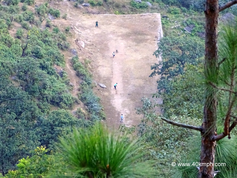 Top View of Cricket Match