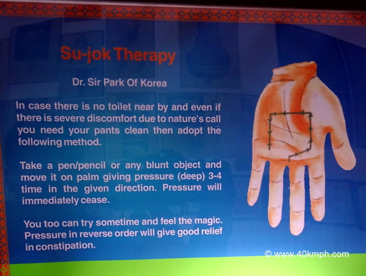 In Case There is No Toilet Nearby, Apply Su-Jok Therapy