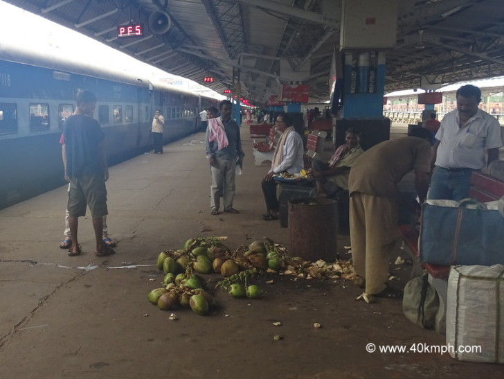 Coconut Water at Kharagpur Railway Station in West Bengal