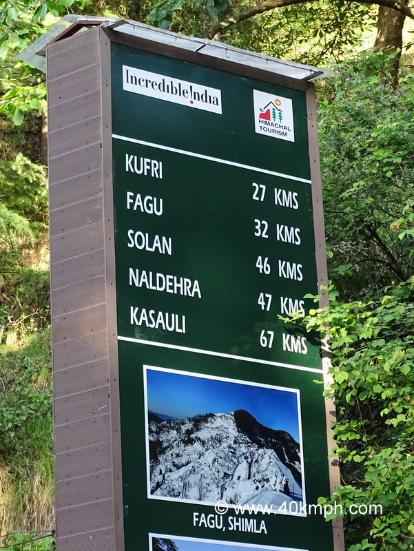 Distance from Chail (Himachal Pradesh) to nearby Tourist Places
